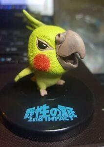 Japan Cockatiel Cockatoo Bird PVC mini figurine Figure roly poly toy Yellow