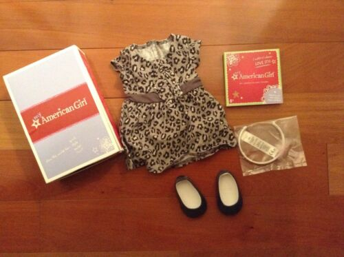 NEW In Box NIB American Girl Sweet Savannah Leopard Outfit Dress Headband Shoes
