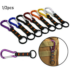 Gear Buckle Keychain Travel Kit Climing Carabiner Camp Mountaineering Hook