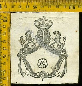 Ex Libris Antico Originale Araldica 714 Torino Biblioteca Universitaria fine 700 7jWEMsRm-09091014-941279378
