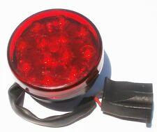 """2 1/2"""" RED 12 LED trailer clearance ATV lights camper 12-24 volt stud mount boat"""