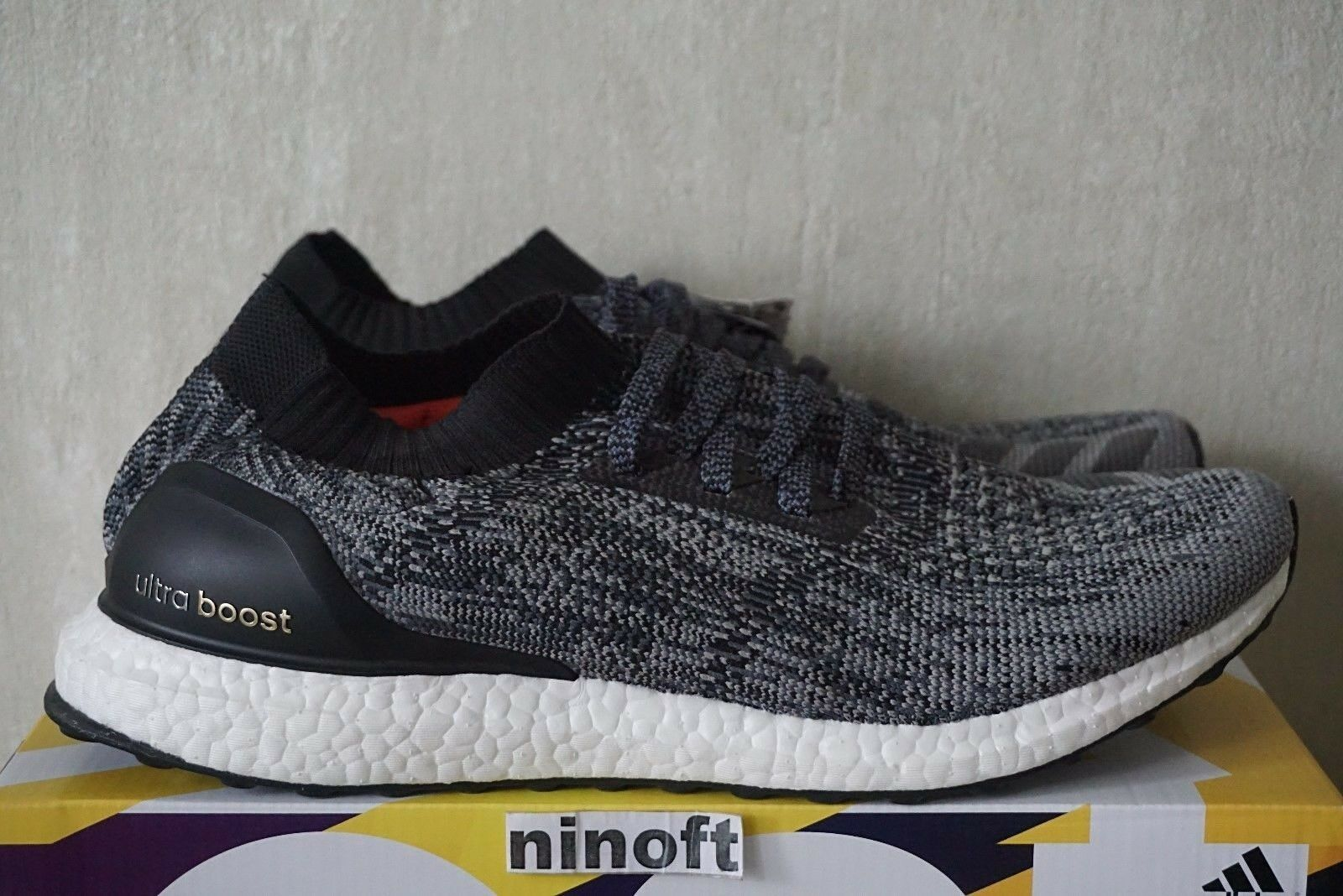 Adidas Ultra Boost Uncaged Black White BB3900 new men running limited primeknit