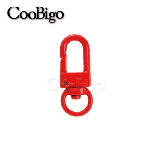 Metal Snap Hook Swivel Lobster Clasp Key Ring Keychain for Bag Strap ID Lanyard