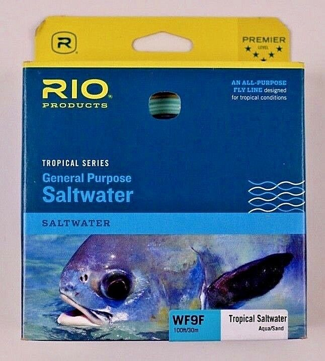 Rio General Purpose Saltwater WF9F LIGNE MOUCHE AQUA SAND Free Ship 6-20043