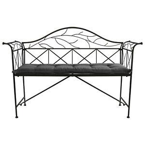 set gartenbank sitzbank metallbank bronze auflage 120x48x6cm anthrazit 2tlg ebay. Black Bedroom Furniture Sets. Home Design Ideas