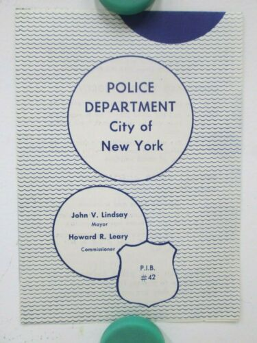 Vintage Welcome To Coney Island Police Assistance Brochure 60th Precinct NY City