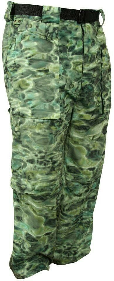 Aqua Design  Camo ConGrünible Fishing Pant UPF 50+ Protection Grün Bayou XL