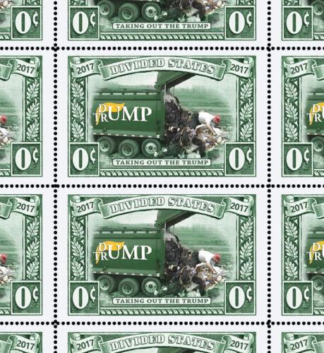 Trump - Dump Trump - Art Stamps (Artistamp, Faux Postage, REPRO)  RESIST!