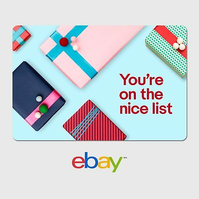 eBay Holiday Digital Gift Card - Nice - $25 to $200 – Email Delivery