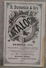 E. Butterick & Co. Catalogue Summer 1876  (US Centennial year)