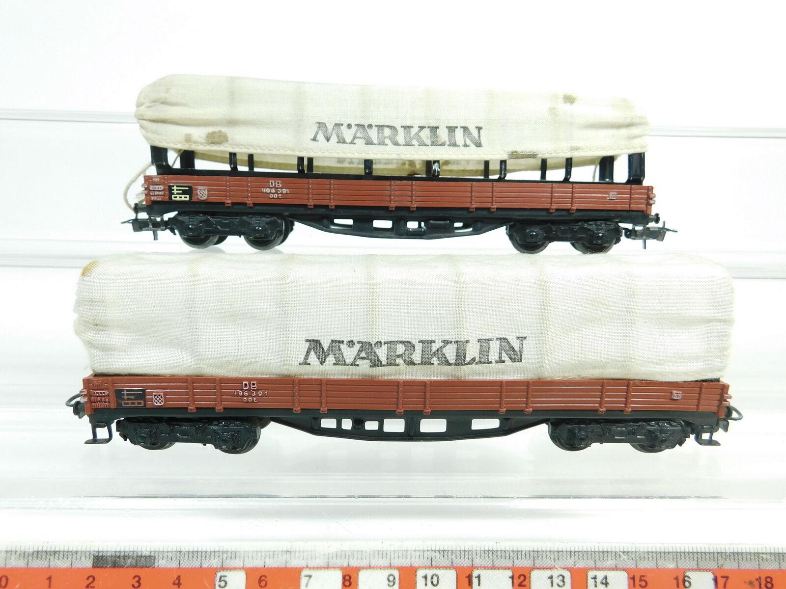 BJ332-0,5x Märklin H0 AC 4517 Planewagen Güterwagen 496 391 DB