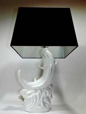 Koi Fish Lamp Shade White Black