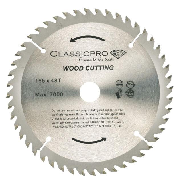 Classicpro tct circular saw blade 165mm x 48t bosch makita dewalt classicpro tct 165mm x 20mm16mm bore 48t cordless circular saw blade uk greentooth Images