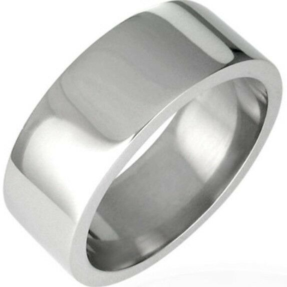 Men Stainless Steel Ring Titanium SZ 7-15 Balack Gold Silver Graduation Brushed
