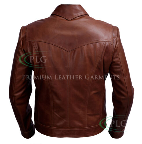 Future Xmen slim coupe véritable Veste Nouveau cuir Of marron Days en Wolverine d6wxIq7R