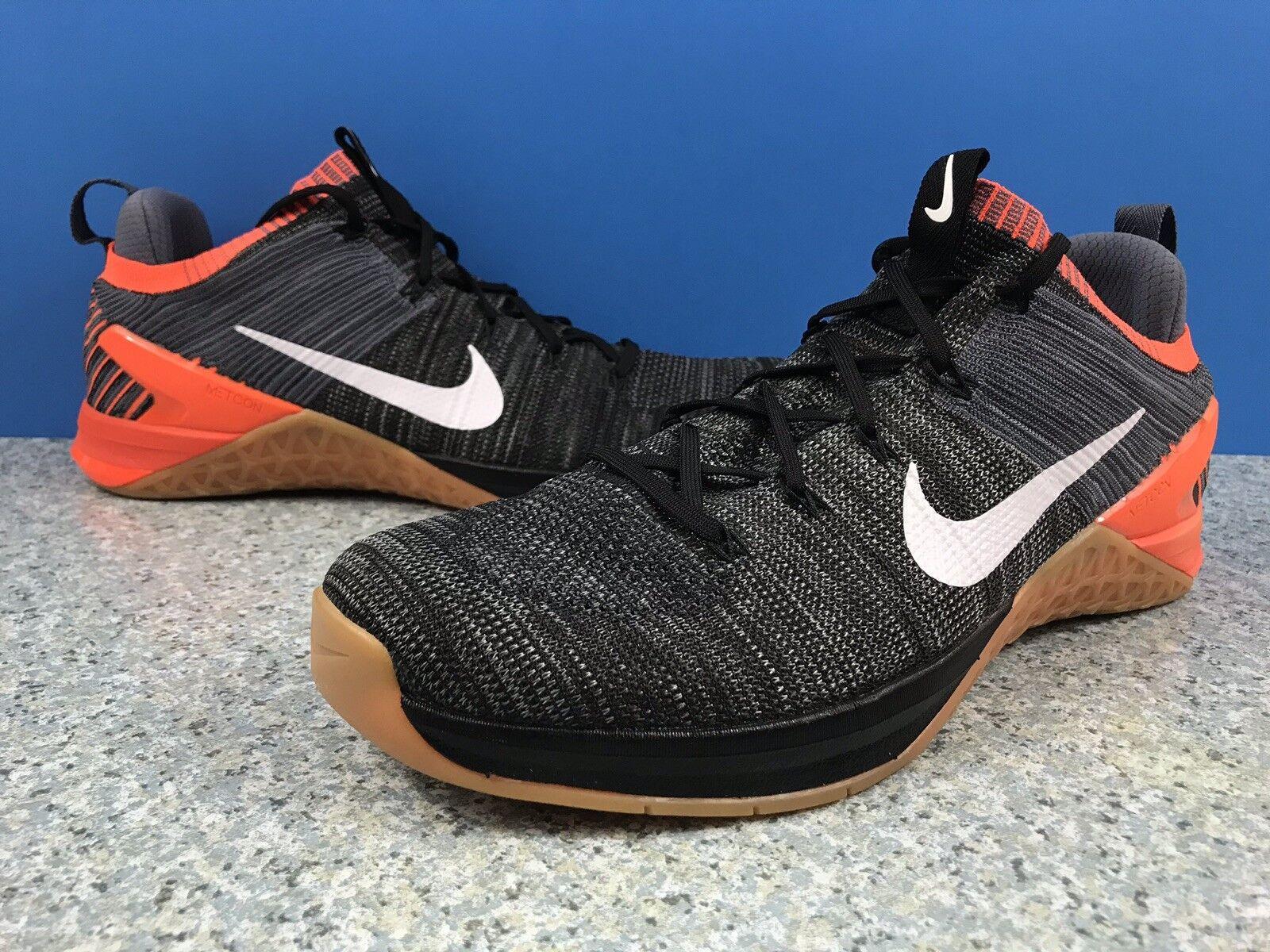 9de0600e04d0e Nike Metcon DSX DSX DSX Flyknit 2 Black White Crimson 924423 005 Sz 14  Cross Training