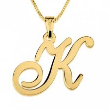 24K Gold Plated Initial Necklace - Customize it with any letter