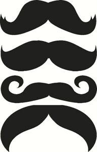 moustache-Sticker-vinyl-decal-Funny-car-laptop-wall-mirror-door-ipad-black-uk