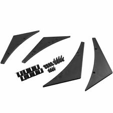 Universal Fit Front Bumper Splitter Fins Body Spoiler Canards Lip Valence Chin