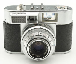 Voigtlaender-Vitomatic-IIa-2a-Kamera-Sucherkamera-mit-Color-Skopar-2-8-50mm-Optik