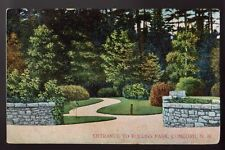 Concord NH New Hampshire Entrance to Rollins Park 1908 Old Postcard