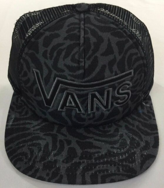 a27d8b2be31 VANS off The Wall Drop V Womens Black Rose Snapback Trucker Hat for ...