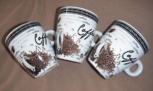 Cafe-Tasses-Espresso-Tasses-3er-Set-Coffee