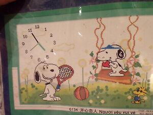 NEW Benway Cross Stitch for Snoopy & Woodstock #2494 14ct 2 Threads  E106