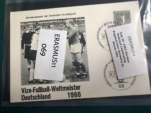 July 30, 1966 German Postcard Celebrating England Over Germany In Soccer 069