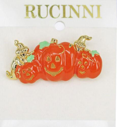RUCINNI Halloween Pumpkin Brooch