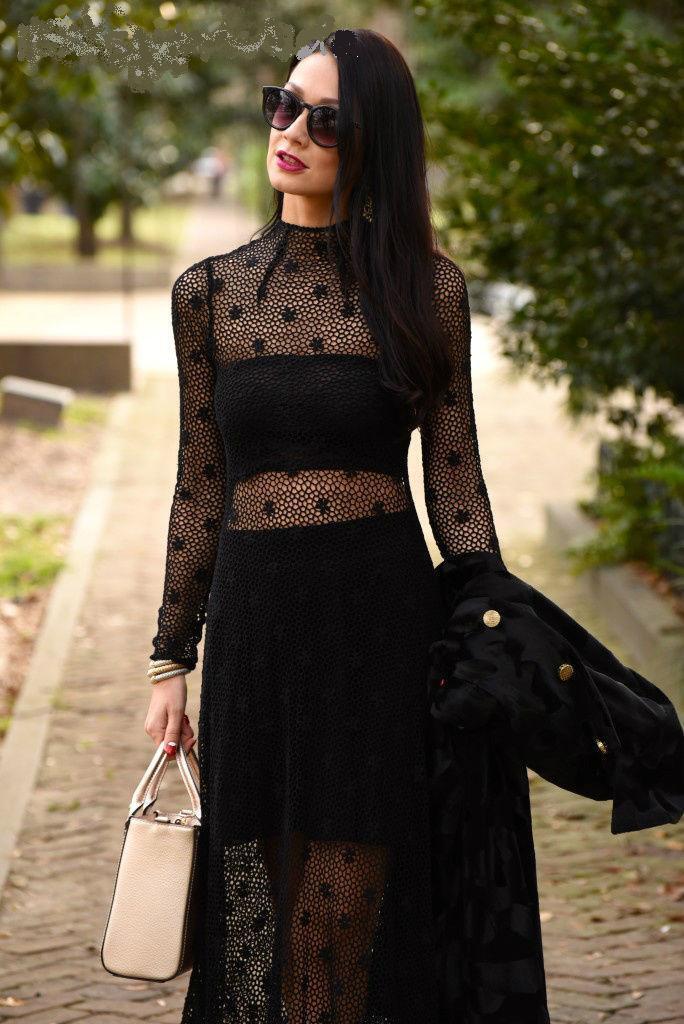NWT ZARA Studio Embroiderot schwarz Crochet Lace Midi Dress Größe M Ref.2678 241