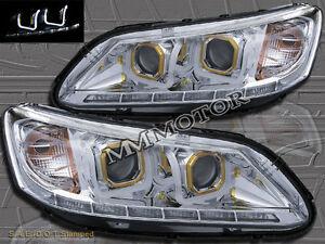 fit for 2013 2014 honda accord 4dr sedan led u bar halo projector headlights 889521048407 ebay. Black Bedroom Furniture Sets. Home Design Ideas