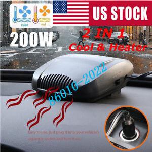 200W 12V Car Truck Auto Heater Hot Cool Fan Windscreen Window Demister Defroster