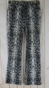 XOXO-Pant-Jeans-7-8-Juniors-Black-White-Gray-Snake-Print-Cotton-Spandex-Stretch