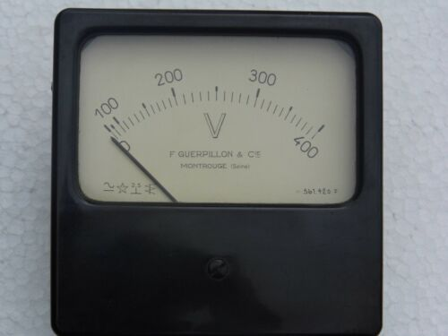 61-12-06-13 made in france Voltmètre F.Guerpillon 400V 120 x 117mm  Ref