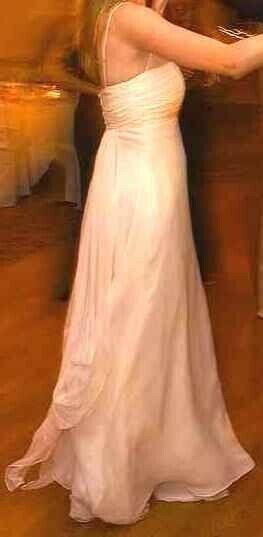 ,700 100% SILK Swarovski Crystal Empire NYC Custom Designer WEDDING DRESS SZ 6