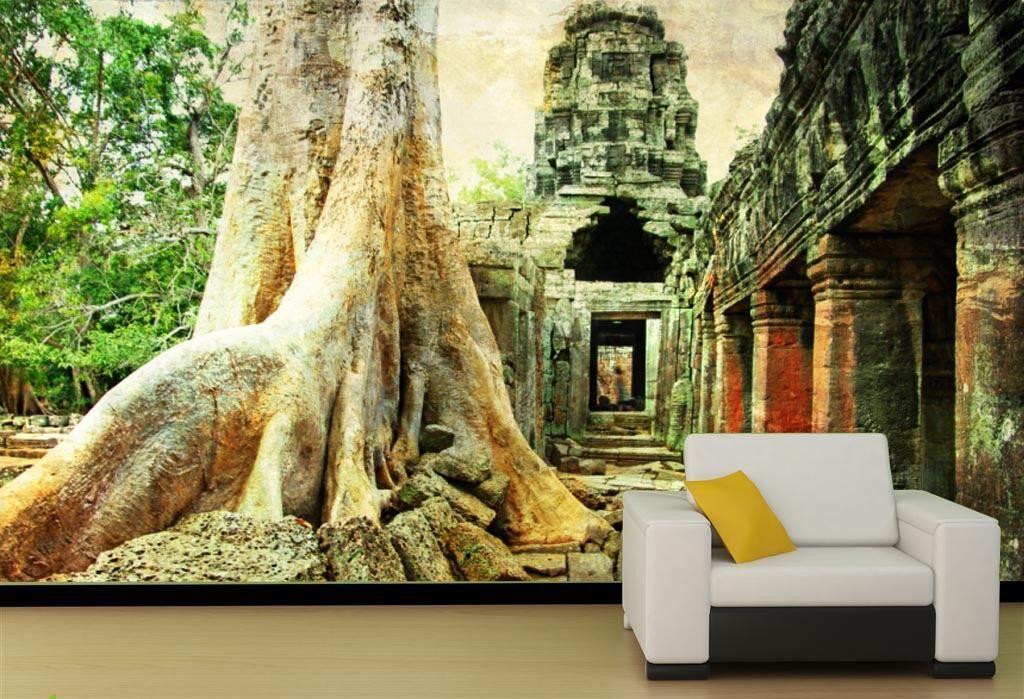 3D Old Tree Building 8 Wall Paper Murals Wall Print Wall Wallpaper Mural AU Kyra