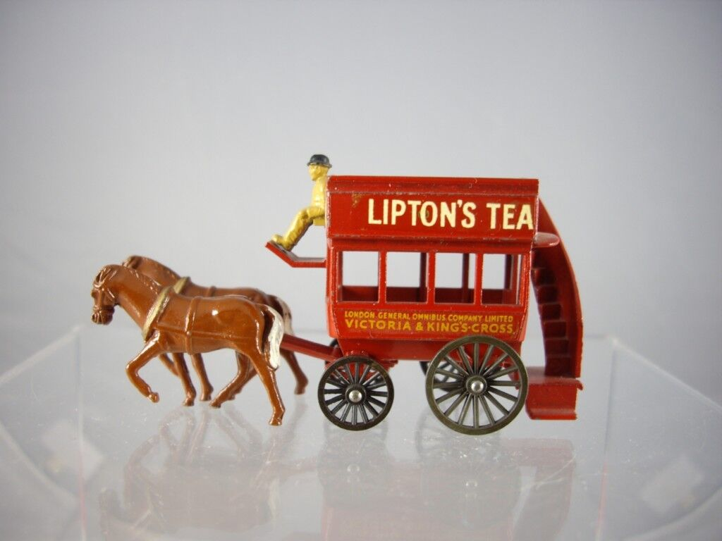 MATCHBOX N. 12 liptons Tea Londra cavallo disegnato BUS  Nizza