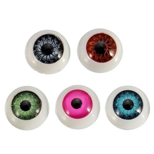20 X 12mm Doll Stuffed Doll Eyeball Half Round Acrylic Eyes for Doll Bear Crafts