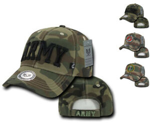 42526a5131e Image is loading Rapid-Dominance-Marines-Army-Woodland-Camouflage -Embroidery-Baseball-