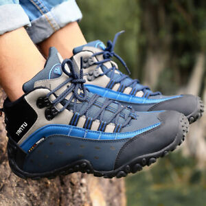 AU-Men-039-s-Big-Size-Outdoor-Hiking-Shoes-Genuine-Leather-Waterproof-Trekking-Shoes