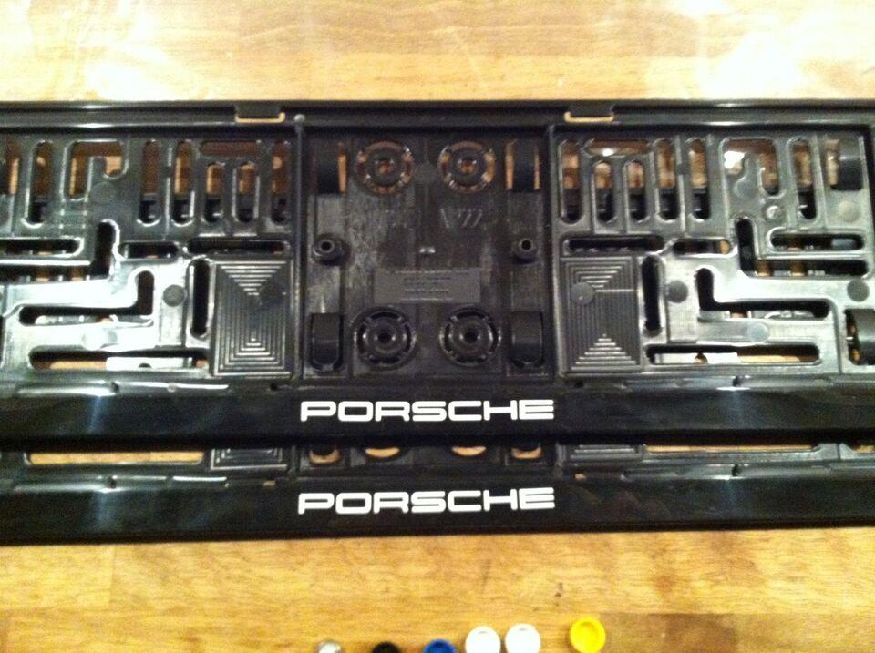 Andre reservedele, nummerpladeramme, Porsche 911 914 924