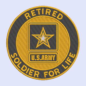 ARMY LAPEL PIN SOLDIER FOR LIFE RETIRED GENUINE U.S