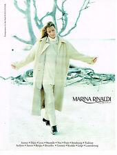 PUBLICITE ADVERTISING 074  1998  MARINA RINALDI mode hiver manteau pull