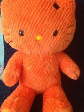 "BUILD A BEAR LTD EDN HALLOWEEN HELLO KITTY 19"" ORANGE PLUSH SOFT TOY WITH SOUNDS"