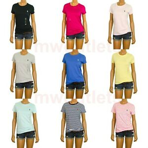 NWT-Ralph-Lauren-Womens-T-Shirt-Jersey-Tee-Crew-Neck-Short-Sleeve-XS-S-M-L-XL