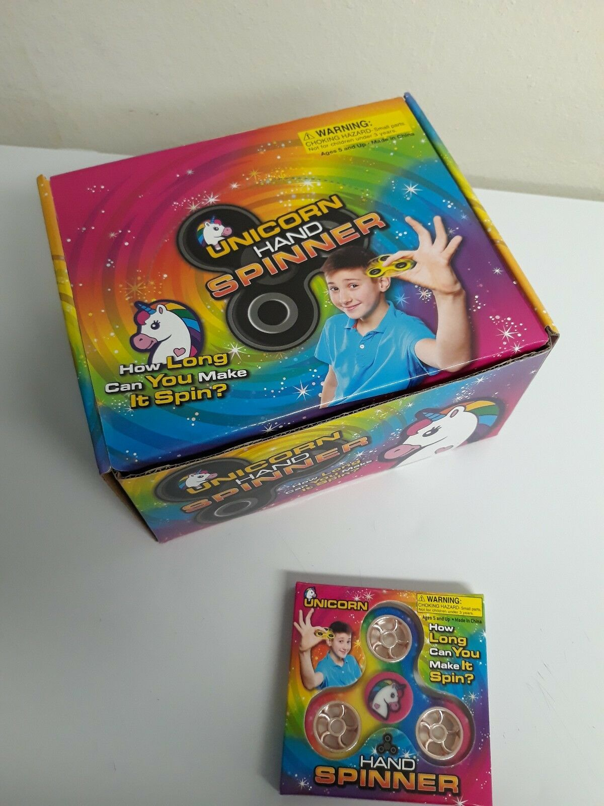 popolare UNICORN He SPINNER Figit giocattoli, Birthday Birthday Birthday favors, Party giocos, Lot of 24 (1 scatola)  acquistare ora