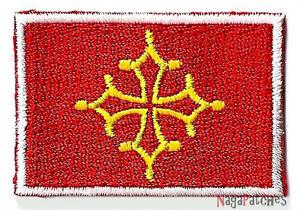 Petit écusson patche Occitanie Occitan badge thermocollant patch 45 x 30 mm