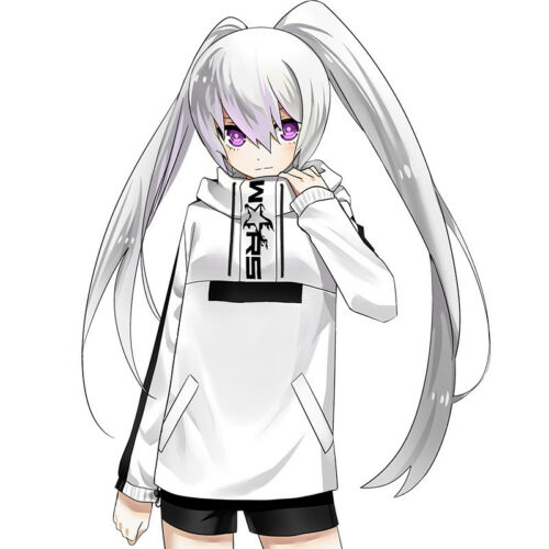 Black Rock Shooter BRS White Rock Shooter Hooded Windbreaker Windproof Coat