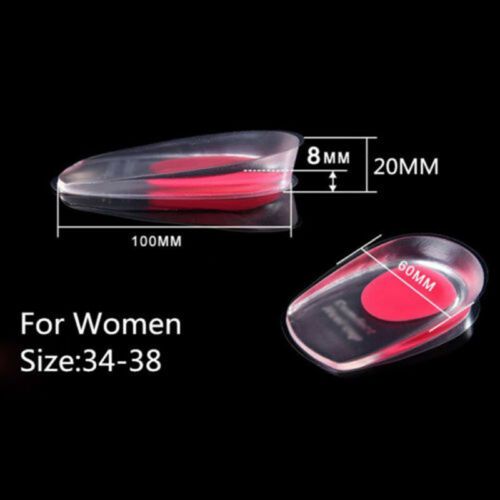 2x Gel Heel Spur Support Insoles Pad Cups Foot Plantar Orthotic Pain Relief New